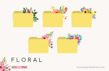 Free Floral Folders icons set by MunaNazzal