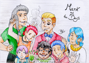 Mark and the Boys Redraw by BlueWolfie17