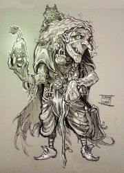 Sketchbook creatures: The Hag by Nezart