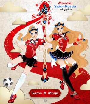 SailorRussia meets Mundial 2018 - Player n Beauty by Lucithea
