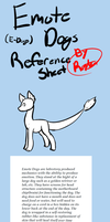 Emote Dogs NOW OPEN SPECIES Reference Sheet by royalraptors