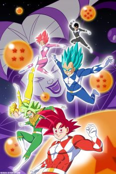 Mighty Morphin Super Saiyans by Neodusk