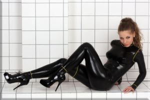 Alina in a neck entry suit by catsuitmodel