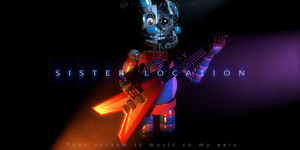 Funtime Bonnie Teaser Render (Fan-made) by HeroGollum