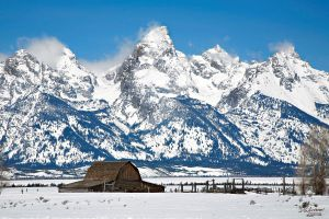 Tetons old barn by DGAnder