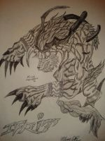 Final Fantasy X - Ifrit by WillOTheWhisp