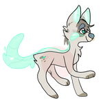 Teal Water Dog Adopt 50 points -OPEN by bitmapdog