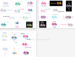 SNSD Logo Color Variations by Steve-ish