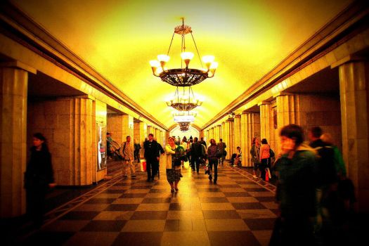 St Petersburg Underground by agateway