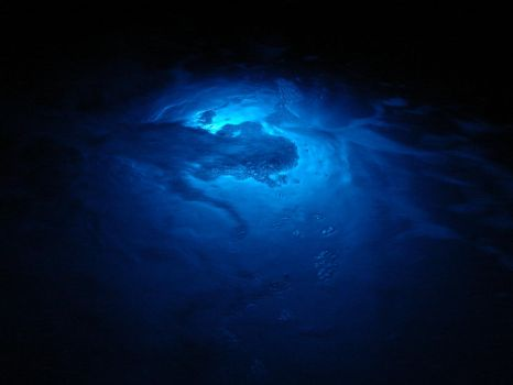 Gushing Blue Water Texture 01 by FantasyStock
