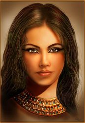 Face of Egyptian queen by crayonmaniac