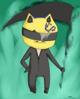 DRRR: Celty Chibi by dawnleapord