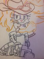 Bunnie Rabbot Outline by Silverfan4EVER123