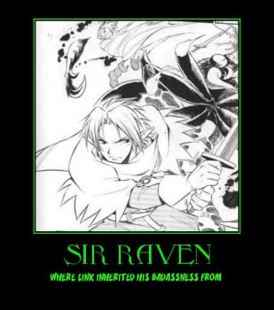 Zelda Sir Raven demotivational poster by Dbgtinfinite