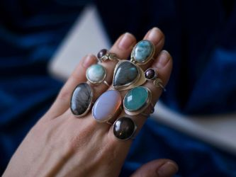 Statement silver rings  created by MoonDome by MoonDomeUk