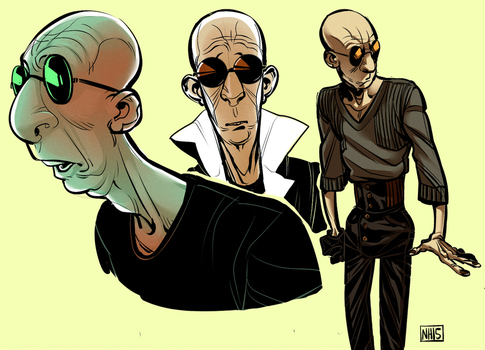 Sly the Bald Guy by mr-book-faced