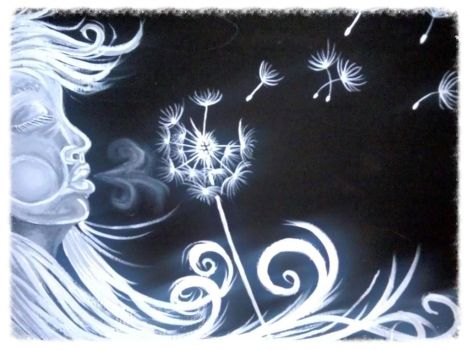 2013 Girl Blow Dandelion by AngiePip