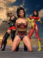 Wonder Woman captured 1 by DahriAlGhul