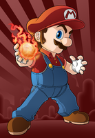 Fire Mario by Kevichan