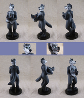 Wolf inside wolf fursuit worn by wolf (figurine) by CadaverCrafts