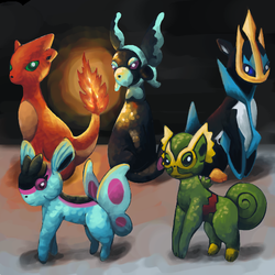 The Lost Eeveelutions by Wooded-Wolf