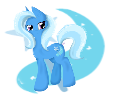 The Great and Powerful Trixie [With Speedpaint] by NnyFluff