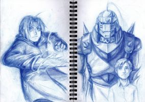 Elric Brothers by lorellashray