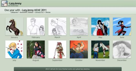 My art in 2011 by LazyJenny