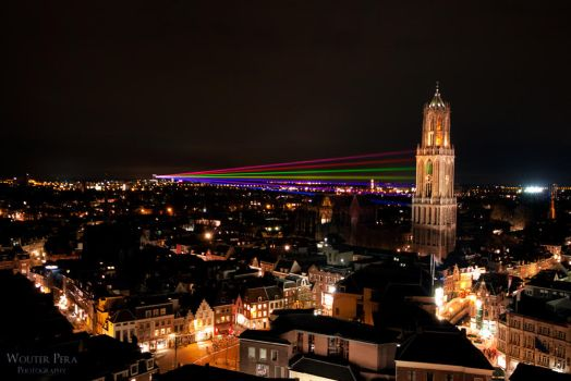 Laserbeams II - Utrecht by WouterPera