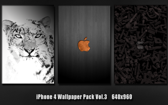 iPhone 4 Wallpaper Pack Vol.3 by GiggsyBest
