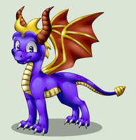 Spyro after a long time by KyuubiCore