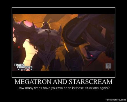 Transformers: Prime Patch Megatron and Starscream by Onikage108