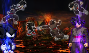 Dark Sonic VS Black Goku. by DrizzlyScroll1996