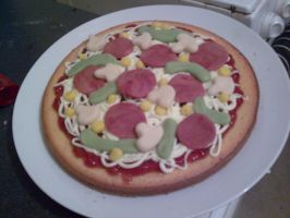 PIZZA CAKE :O by AshFantastic