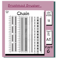 Illustrator Chain brush part 6 by brushmad