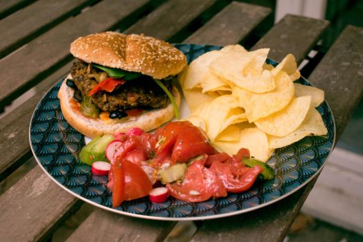 Vegan Burger (recipe in the description) by MisterTryster