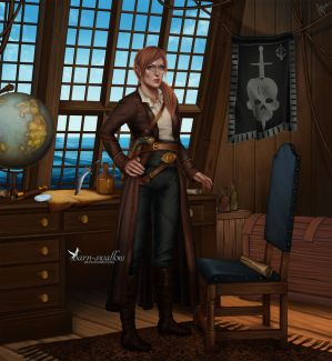 Commission: Captain's cabin by barn-swallow
