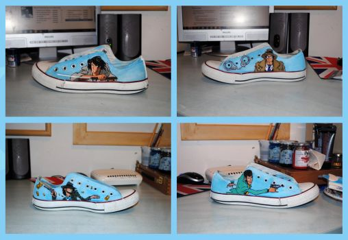 Lupin III Custom Converse All Star by Menco