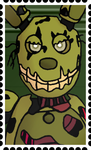 Springtrap Stamp by RetroUniverseArt