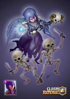 Witch - Clash Royale by hafzicalart