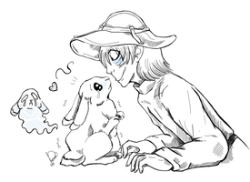 Cole and Rabbit by zoiocen