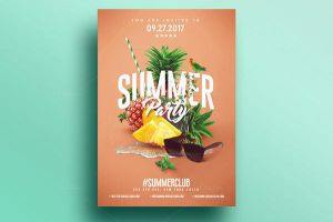 Summer Party | Psd Flyer Template 4 by RomeCreation