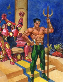 Namor and the Iron Throne. by saltares