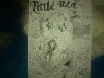 Little Red Inked Poster by KHeywood