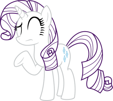 Rarity is Still Confused -Outline- by EMedina13