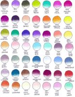 Prismacolor Color Chart 2 by peonyfantasy