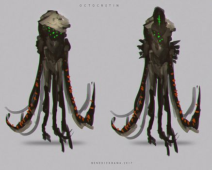 Creature design 003 OCTOCRETIN by benedickbana