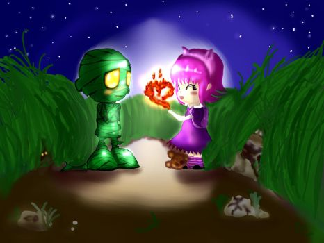 Amumu and Annie by xXKokoro90Xx