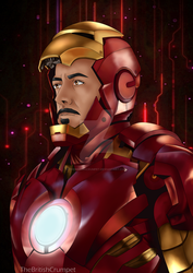 Tony Stark in Armour by TheBritishCrumpet