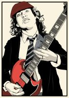 Angus Young by DottGonzo